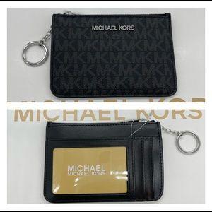 Michael Kors Small TZ Coinpouch w/ID Black